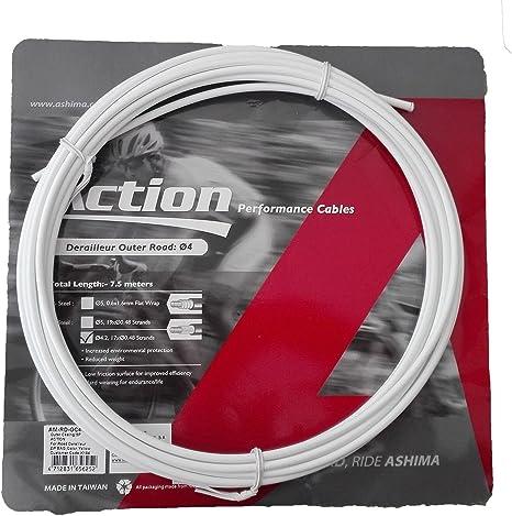 ONOGAL Funda para Cable de Cambio Profesional Color Blanco 7.5m ...