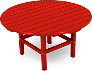 product image for POLYWOOD Round 38-Inch Conversation Table, Sunset Red