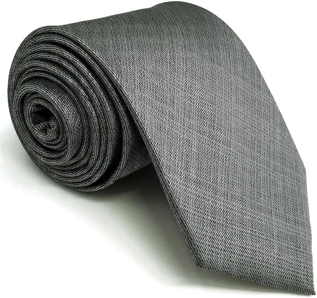 Shlax&Wing Color Sólido Gris Corbatas Para Hombre Traje de ...