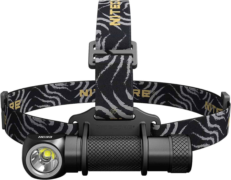 Nitecore HC33 1800 Lumen L-Shape High Performance LED Headlamp, Black