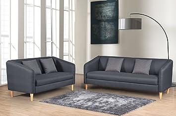 Amazon.com: Container Direct Alan Mid-Century Modern Sofa ...