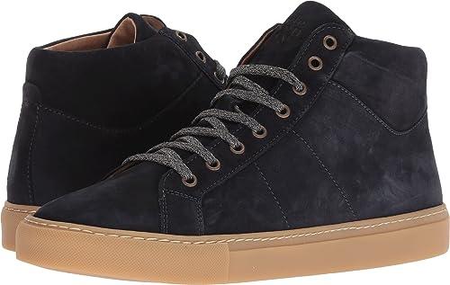 Eleventy Men s High Top Suede Sneaker Navy 41 (US Men s ... b9850ebb421