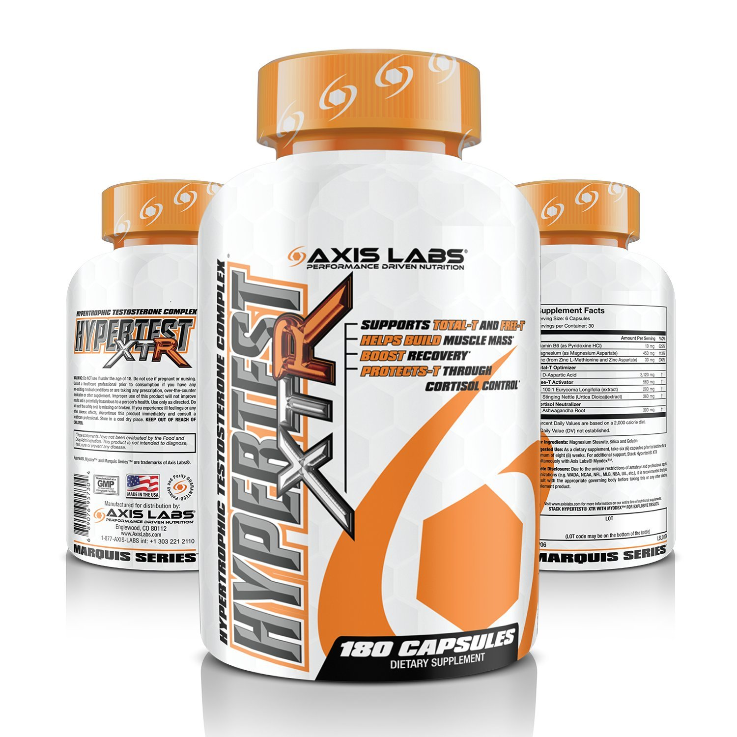 Axis Labs Hypertest XTR Testosterone Complex (180 Count)