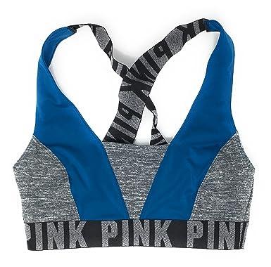 ba65616b1e865 Victoria s Secret Pink Ultimate Crossback Bra Top X-Small Teal Gray MARL
