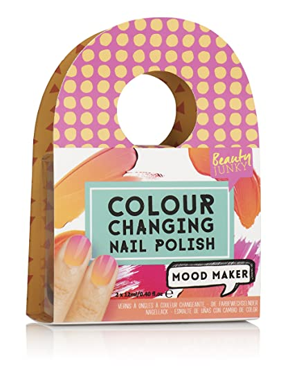 Npw Nail Art Mood Maker Colour Changing Nail Polish Orange Amazon