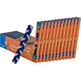 12 Pack Braided Havdalah Candle - Flat Blue and White Paraffin Wax - Shabbat Judaica Gift - By Ner Mitzvah