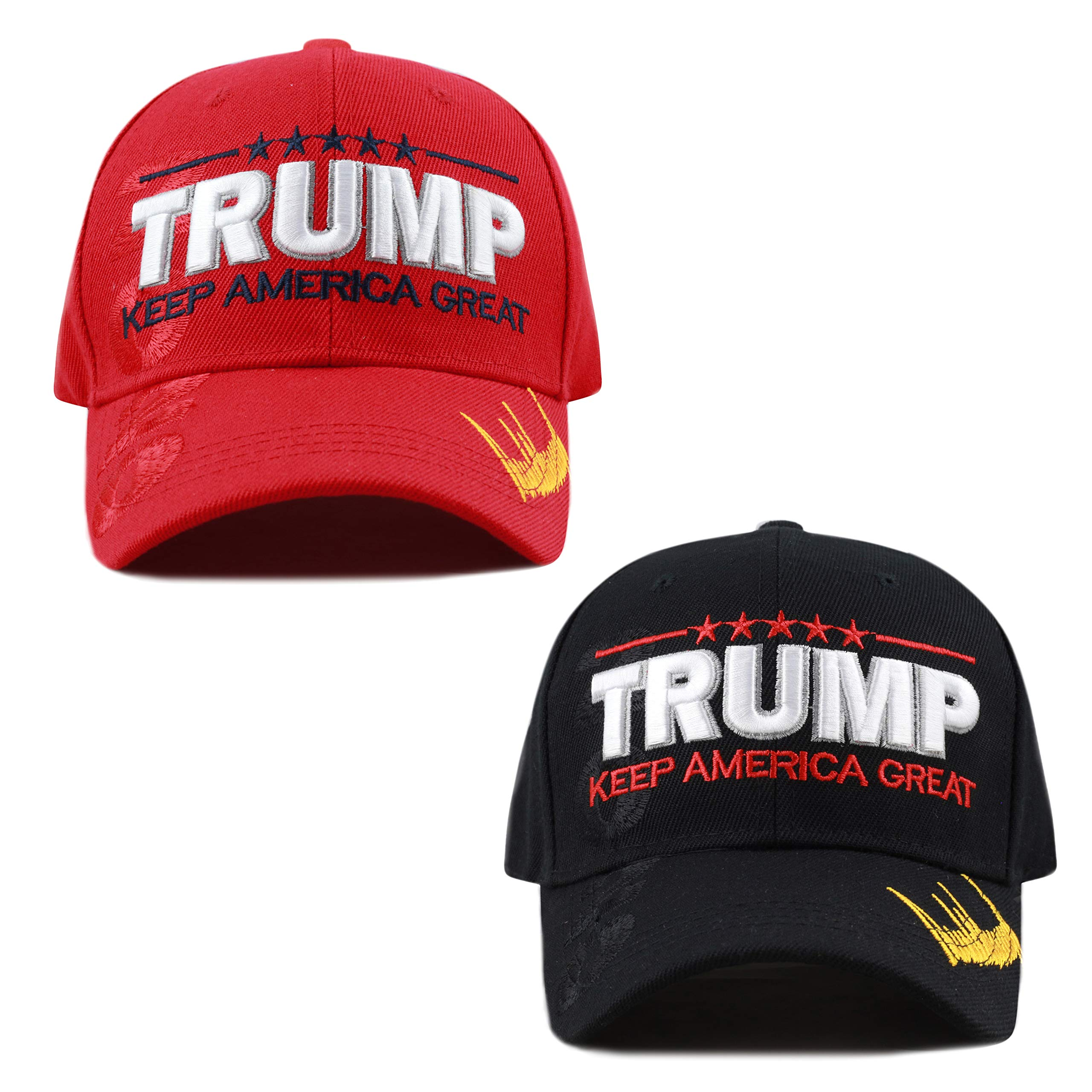 THE HAT DEPOT Exclusive Donald Trump Keep America Great Make America Great  Again 3D Signature Cap f6751b90f61