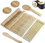 Foonii Sushi Making Kit, Beginner Sushi Roller Set, Bamboo Sushi Mat,
