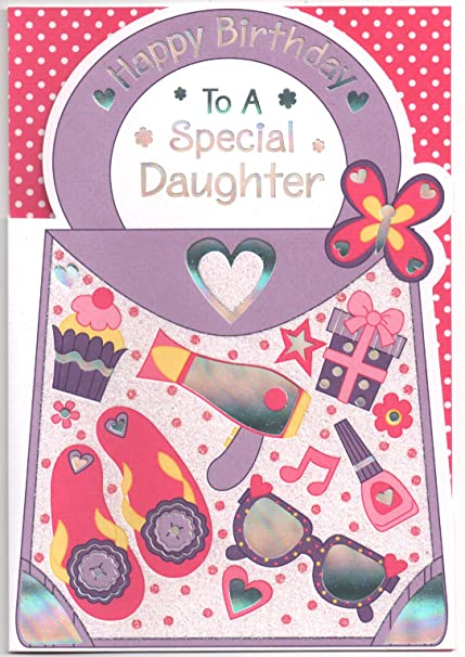 Tarjeta de cumpleaños hija especial, bolso, libre 1st clase ...