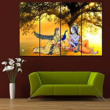 Ray Dcors Multiple Sparkling Radha Krishna Wall Painting 4