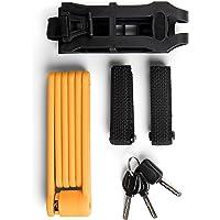 Provelo - Cadenas pliable compact - Pour tous types de Vélos - Antivol massif - Facile à transporter - 3 Clés - Plusieurs Coloris disponibles
