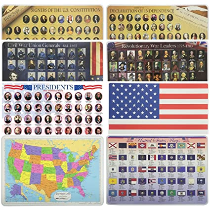 Amazon.com: Painless Learning Educational Placemats for Kids USA Map ...