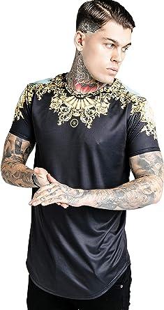 Sik Silk Hombres Camisetas Lord Curved Hem: Amazon.es: Ropa y ...