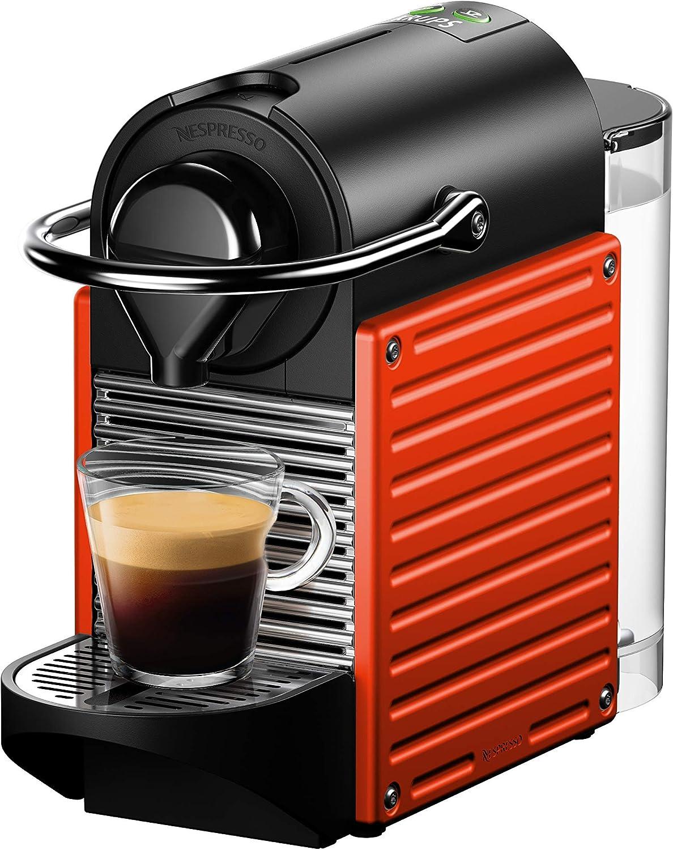 Nespresso Krups Pixie XN3045 - Cafetera monodosis de cápsulas Nespresso, 19 bares, apagado automático, color rojo naranja: Amazon.es: Hogar