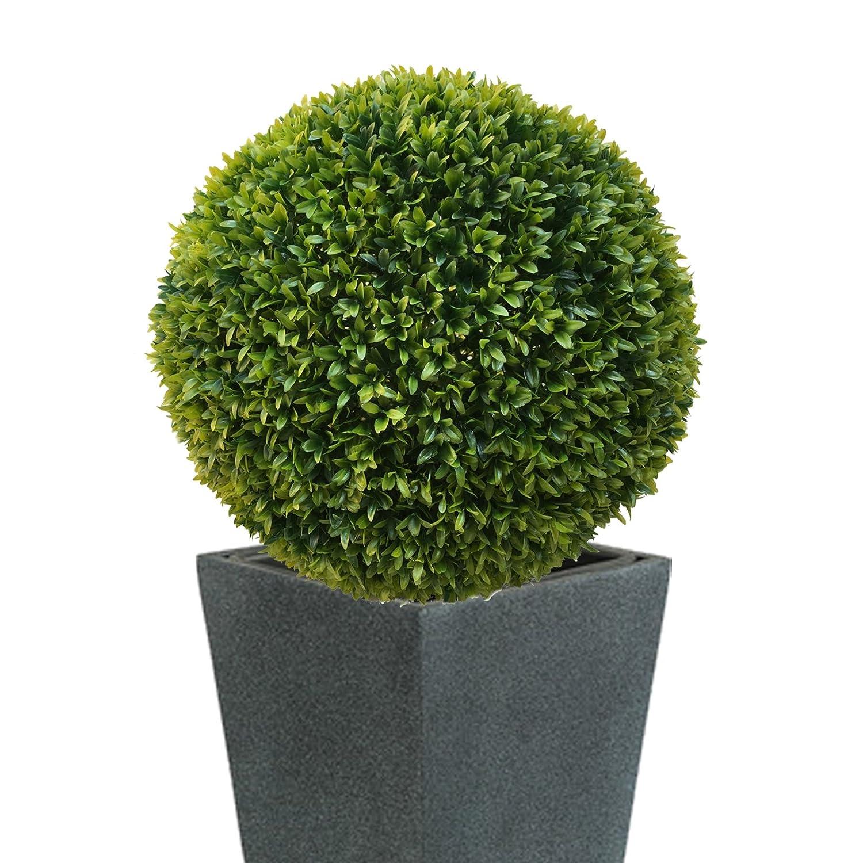 2 x ca Ø 27 cm SET  Buchsbaumkugel THUJA Buchsbaum Kugel künstlich wie echt
