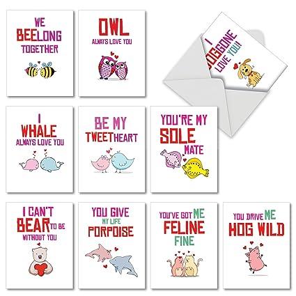 Amazon Com Box Set Of 10 Loving Puns Gone Wild Valentine S Day