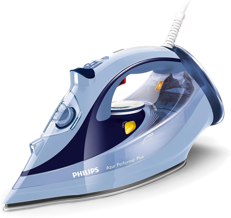 Philips Azur Performer Plus GC4526/20 - Plancha de Vapor 2600W, golpe de vapor 210g, vapor de 50g/min, 0.35 litros, suela T-ionicGlide, Azul