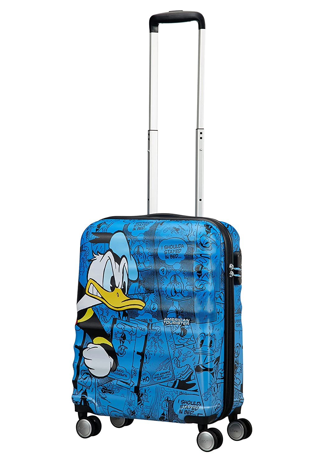 Multicolour Disney Wavebreaker 55 cm 85667//5278 36 liters American Tourister Spinner 55//20 Hand Luggage Donald Duck
