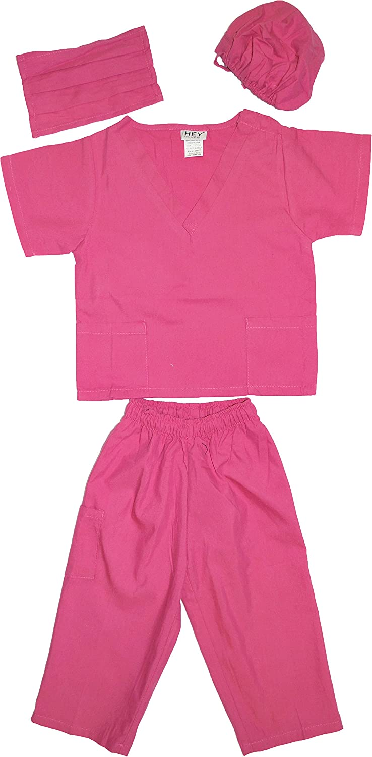 Kids Doctor Dress up Surgeon Costume Set, available in 13 Colors for 1-14 Years