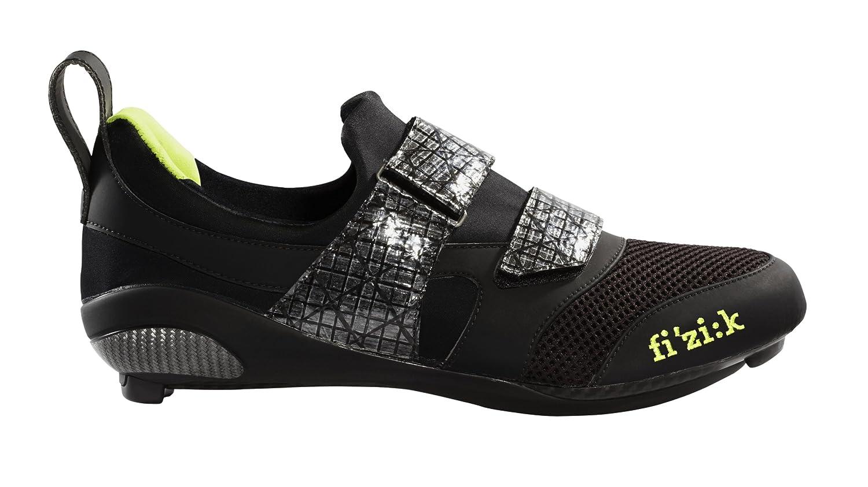 Fizik Hombre K1 Uomo triatlón Zapatillas de Ciclismo para Bicicleta, Black/Neon Lime: Amazon.es: Deportes y aire libre
