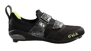 Fizik Hombre K1 Uomo triatlón Zapatillas de Ciclismo para Bicicleta, Black/Neon Lime