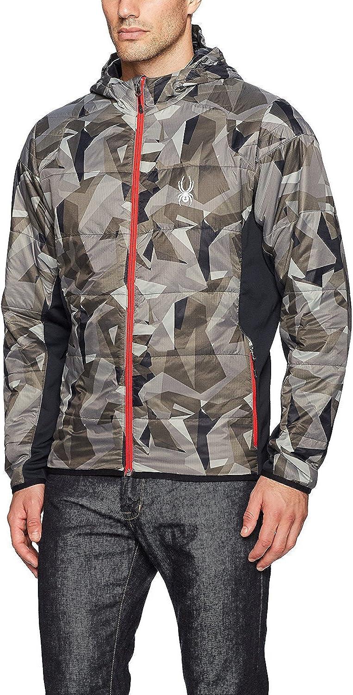 Spyder Men's Glissade Max 72% OFF Full Zip Jacket Cam Black Hoody Insulator Max 63% OFF