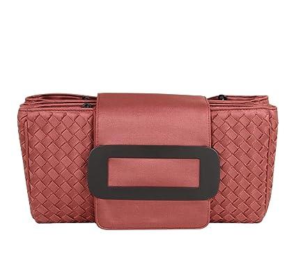 Amazon.com  Bottega Veneta Intrecciato Coral Fabric Tote Handbag With Chain  Handle 309348 6323  Clothing cc94da63e1575