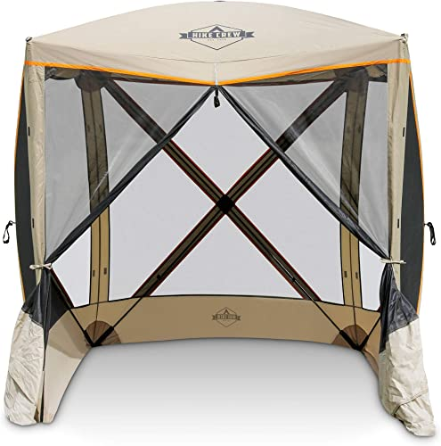 Hike Crew 4-Panel Pop-Up Screen House Gazebo 70×70 Inch Instant Setup 4-Sided Hub Tent UV Resistant SPF 50 Fits 5 People Heavy Duty 210D Material Includes Carry Bag Ground Stake