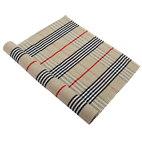 Merveilleux Homcomoda Cotton Striped Kitchen Runner Rug Washable Area Floor Rug  Carpet 24u201d By 51