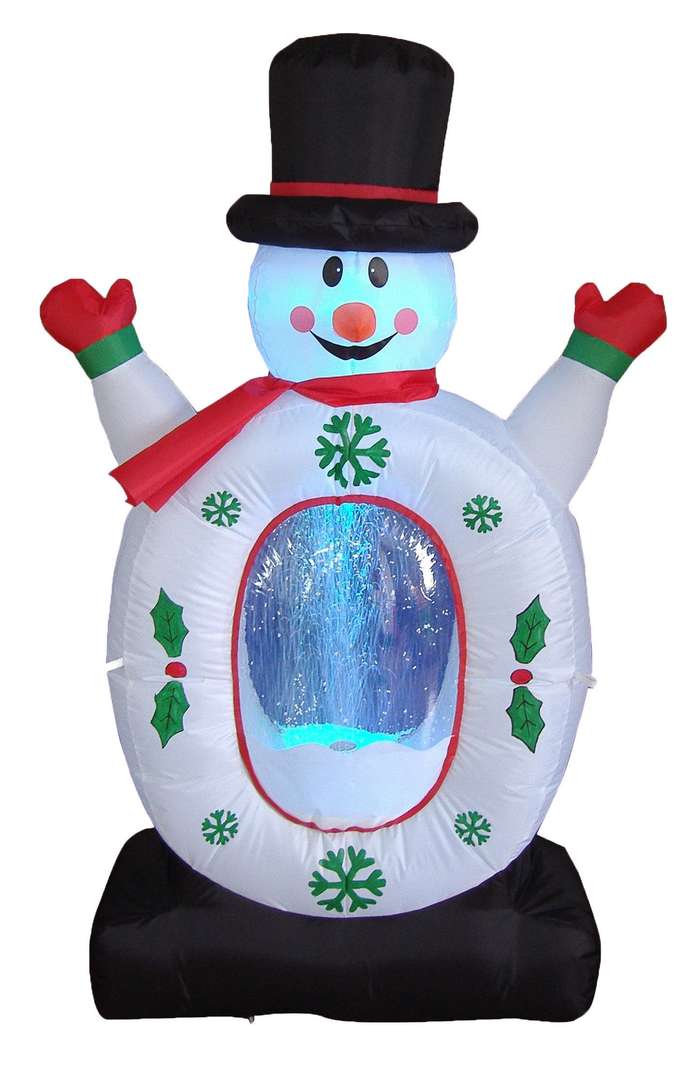 4 Foot Christmas Inflatable Snowman Snowflake Snow Globe Yard Decoration