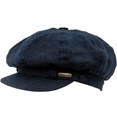 07064559a94 Sterkowski 8 Panels Linen Summer Gavroche Balloon Cap US 6 3 4 Navy Blue