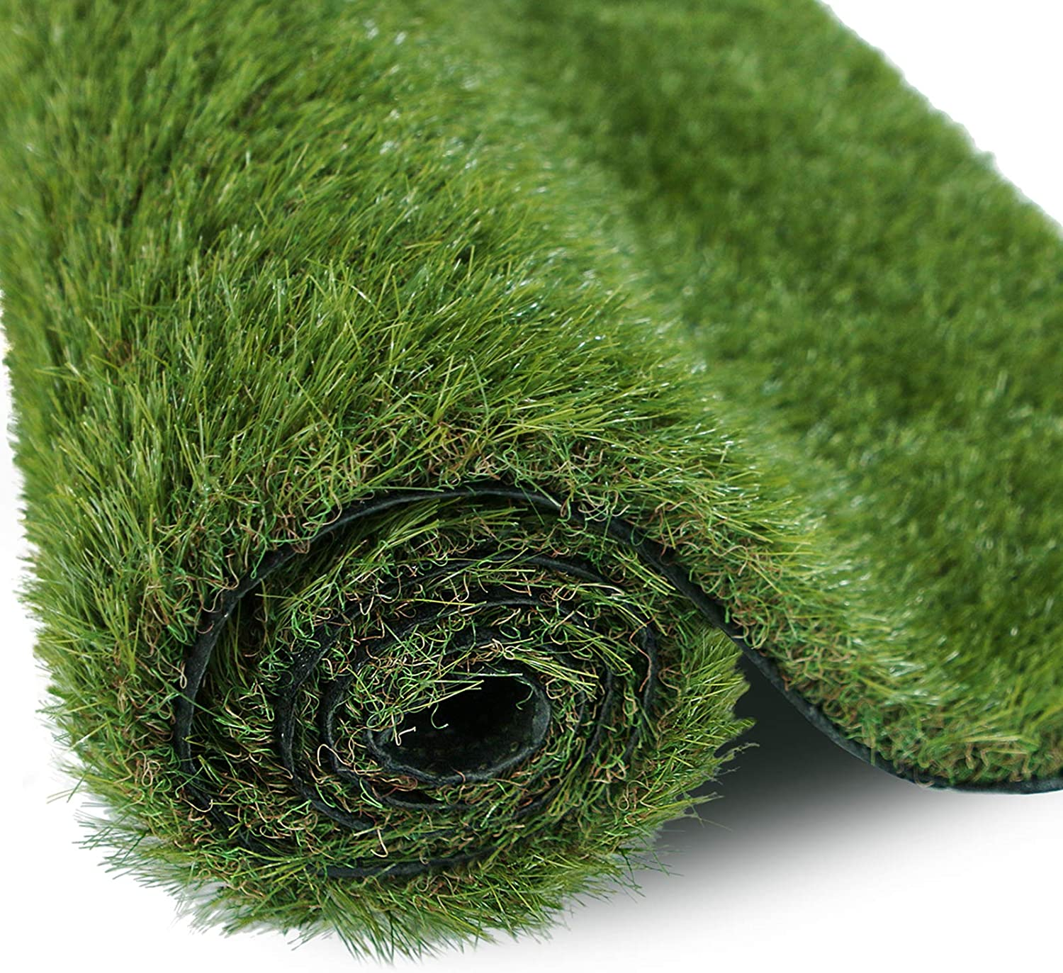 XLX TURF Premium Thick Artificial Grass Rug 5ft x 8ft for Indoor/Outdoor, 5 Tone Realistic Synthetic Fake Grass Pet Turf Mat Carpet Garden Lawn Landscape