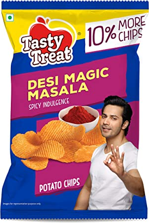Tasty Treat Desi Magic Masala Potato Chips 55G