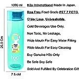 H2o PET Fridge Bottle, 1000 ml, Blue