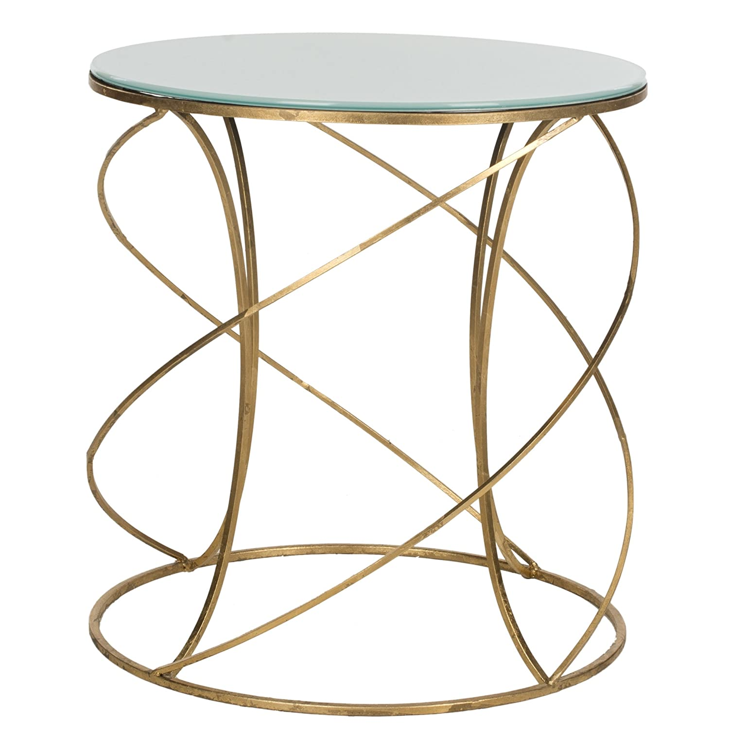 Amazon.com: Safavieh Home Collection Cagney Gold Accent Table: Kitchen U0026  Dining