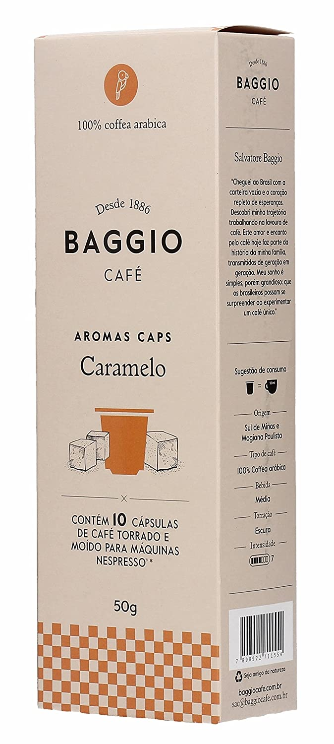 Baggio Extra Intense Single Serve Cup Brazilian Coffee 10 capsules K-Cups for Nespresso, Keurig Brewers: Amazon.com: Grocery & Gourmet Food