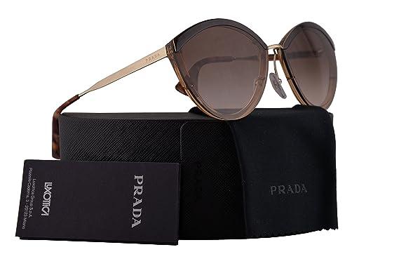 806be54d835da ... amazon prada pr07us sunglasses brown antique pink w brown gradient 64mm  lens kof0a6 spr07u pr 07us