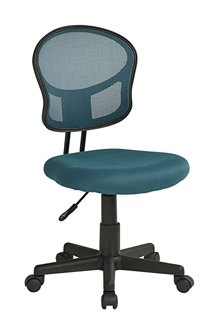 Fabulous Office Star Mesh Back Armless Task Chair With Padded Fabric Seat Blue Gmtry Best Dining Table And Chair Ideas Images Gmtryco