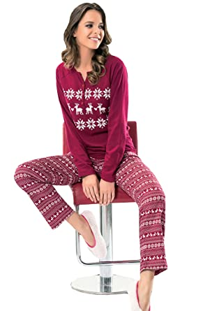 918f75b136b6 NBB Women s Pajama Set -2 Piece Cotton Long Sleeves Sleepwear at ...