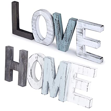 Amazon Com Webi Home Love Sign Rustic Wooden Letters Wooden Signs