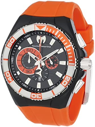 TechnoMarine Mens 112011 Cruise Locker Nylon Strap with Key Ring Watch