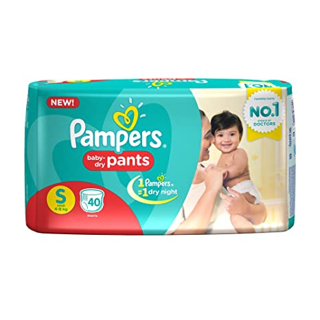 ef91ec85cf Buy Pampers Small Size Diaper Pants (40 Count) Online at Low Prices in  India - Amazon.in