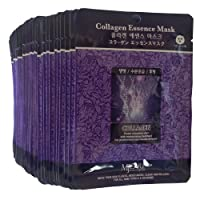 MJ Collagen Essence Face Skin Mask Pack Elastic,Moisturized,Clean,Relaxed 30Pcs...