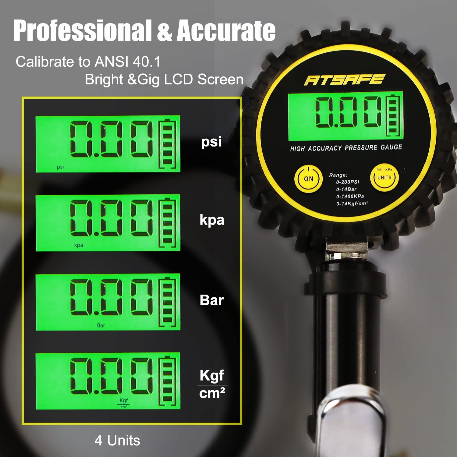 TXDIRECT Tyre Pressure Guage Car Tyre Pressure Gauge Activation Tool Accessories For Men Gifts Wireless Monitor Girls Emergency Checker Car Pressure Tyre black