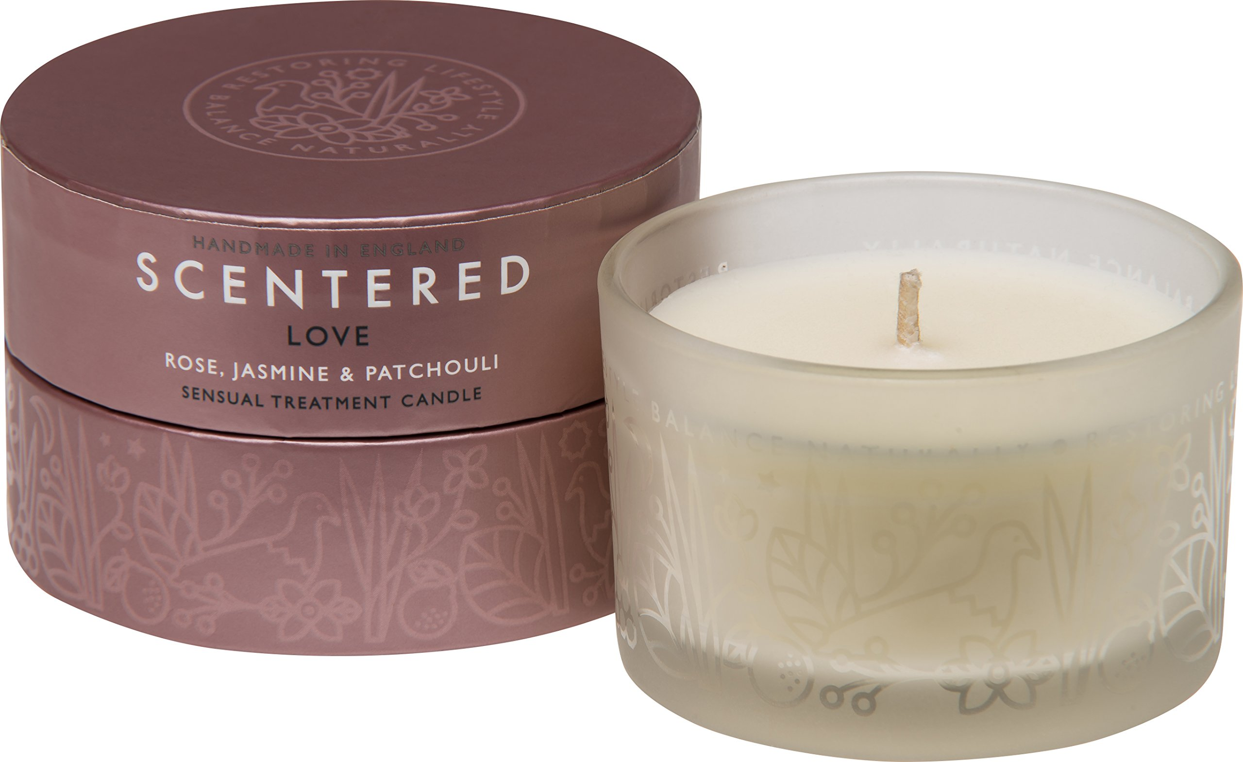 Scentered Aromatherapy Love Travel Candle - Rose/Jasmine Small Scented Therapy Candle