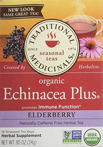 Traditional Medicinals Organic Echinacea Plus Elderberry Tea Bag