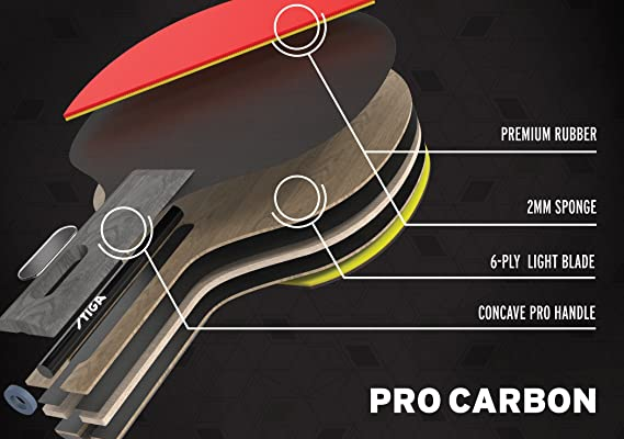 Buy stiga pro carbon table tennis racket online at low prices in buy stiga pro carbon table tennis racket online at low prices in india amazon fandeluxe Image collections