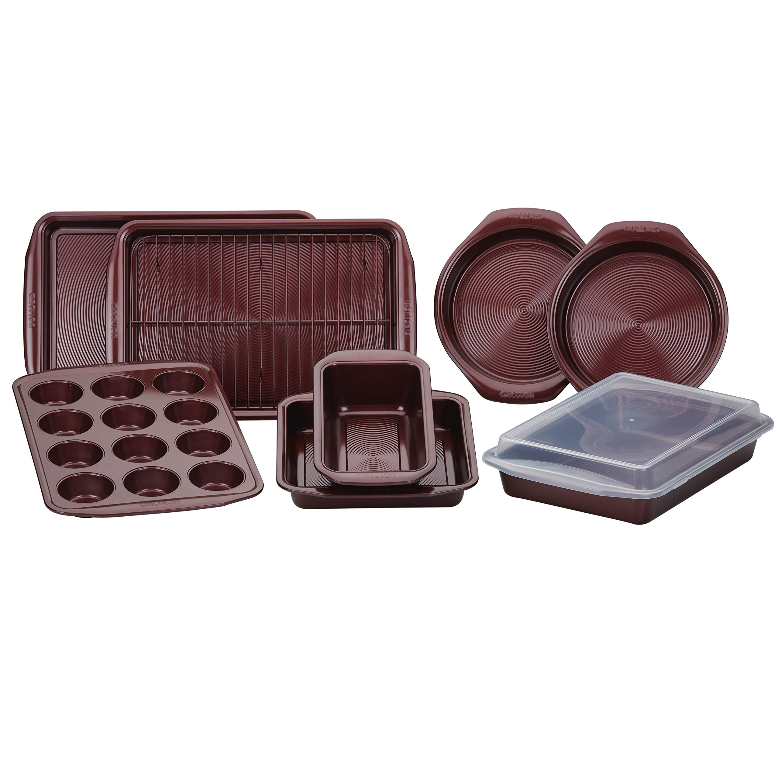 Circulon 47740 10-Piece Steel Bakeware Set, Merlot by Circulon (Image #11)