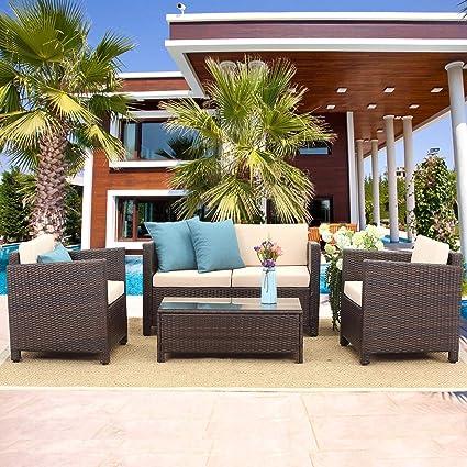 Admirable Amazon Com Wisteria Lane Outdoor Patio Furniture Set 5 Home Interior And Landscaping Staixmapetitesourisinfo