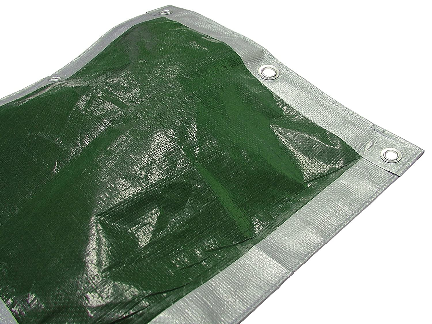 Faithfull 5.4 x 3.6m/ 18 x 12ft Tarpaulin - Green/Silver Toolbank 43404B
